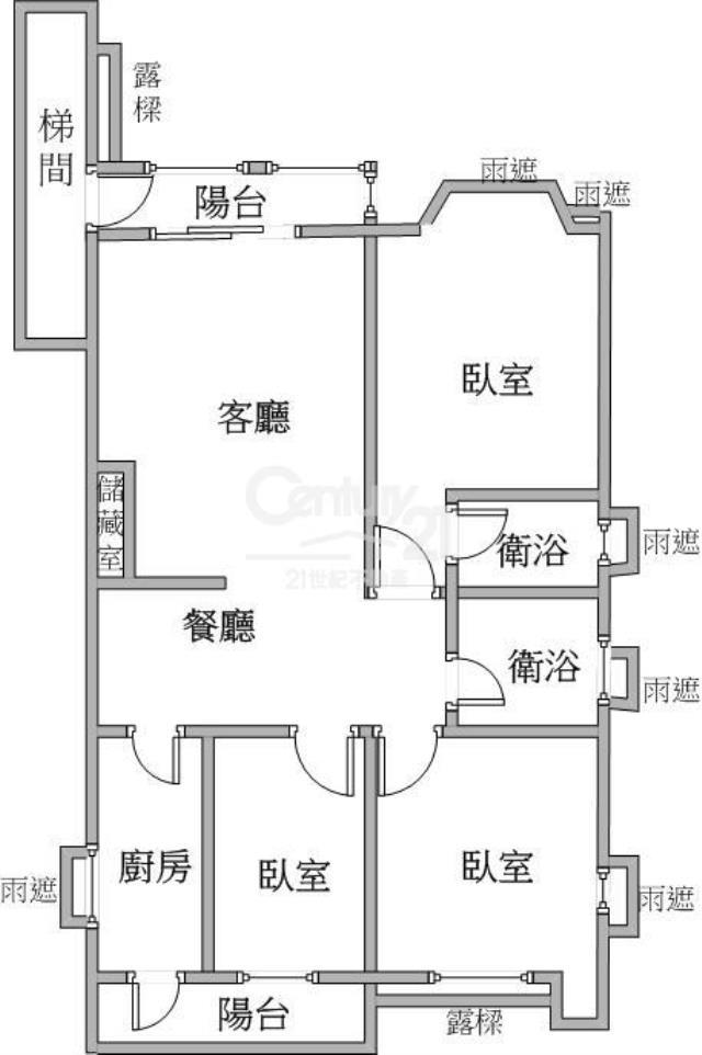 (2021)四號公園富貴3房+車位