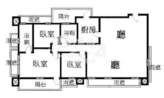 (1381)靜心連雲景觀豪宅~可改4房