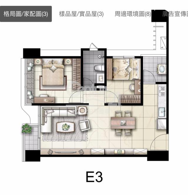 房屋買賣-宜蘭縣宜蘭市買屋、賣屋專家-專售AA363-明日馥(預售)2房,來電洽詢:(03)937-3366